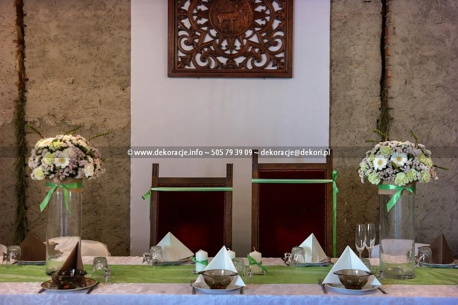 dekoracja sali w stylu rustykalnym sopot