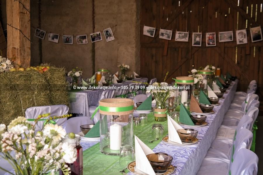 dekoracja sali vintage gdynia