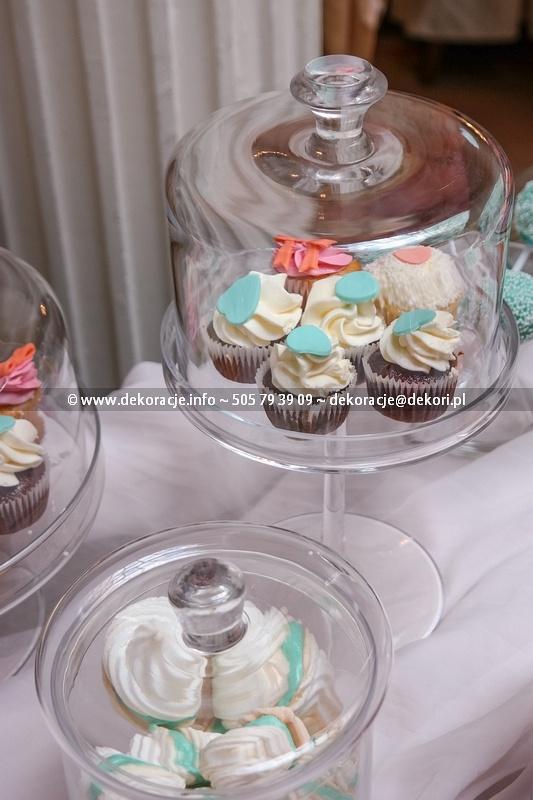 słodki bufet dekoracje ślubne sopot