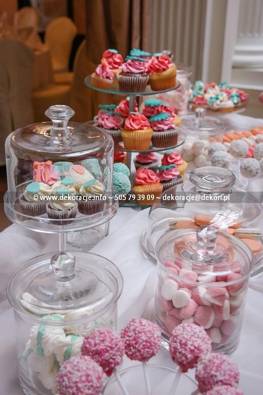 słodki stół na weselu Gdańsk