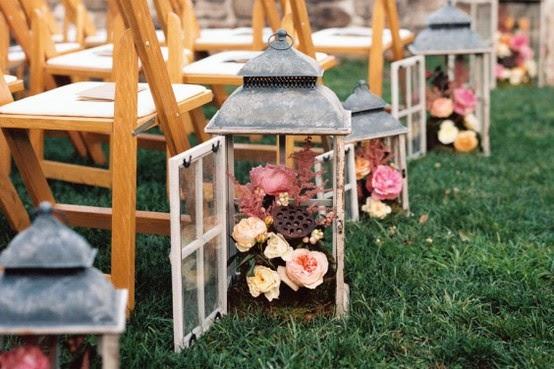 ślub plenerowy rustykalnie Sopot latarnie