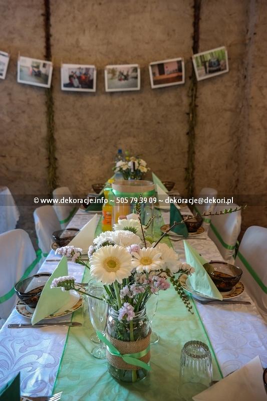 wystrój sali na wesele styl rustykalny Gdańsk