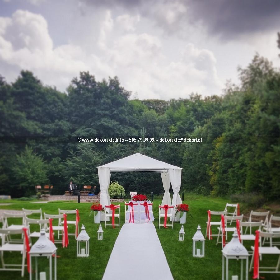 Dekoracja ślubne w plenerze Gdynia