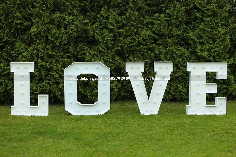 Litery LOVE świecące Trójmiasto