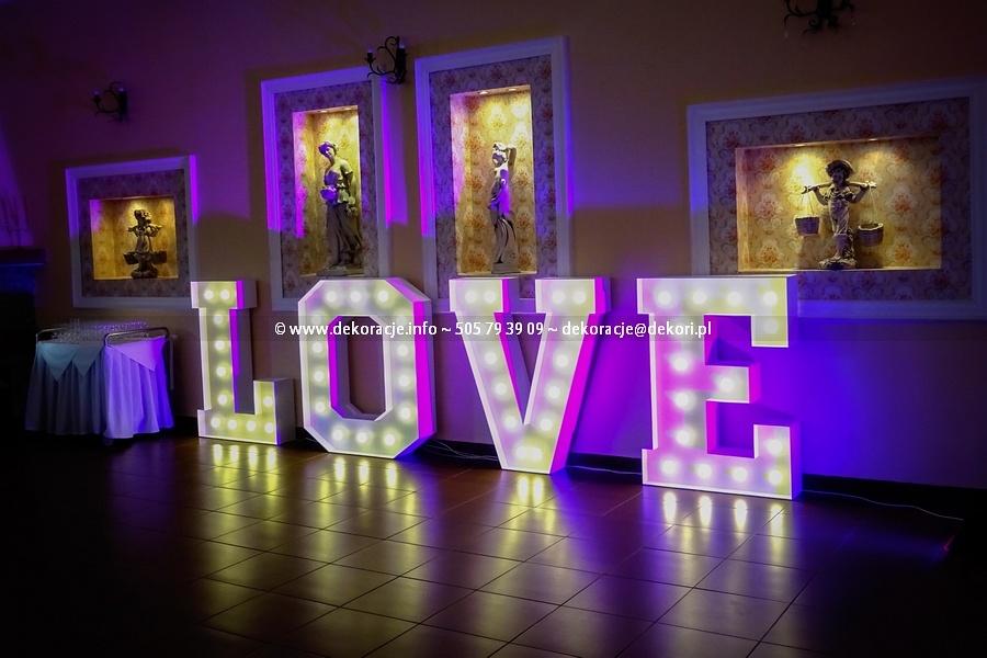 Love wejherowo napis na ślub wesele