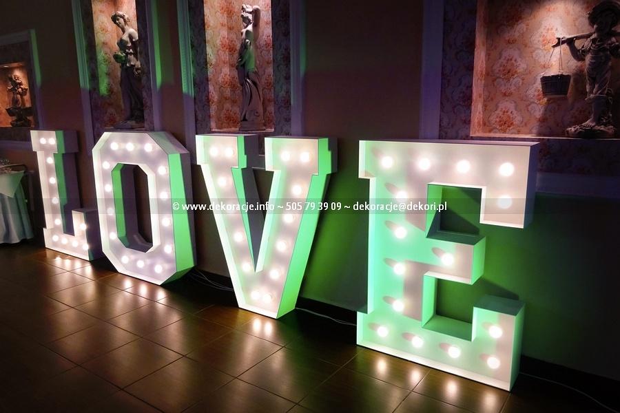 Napis Led Love Rumia Neon