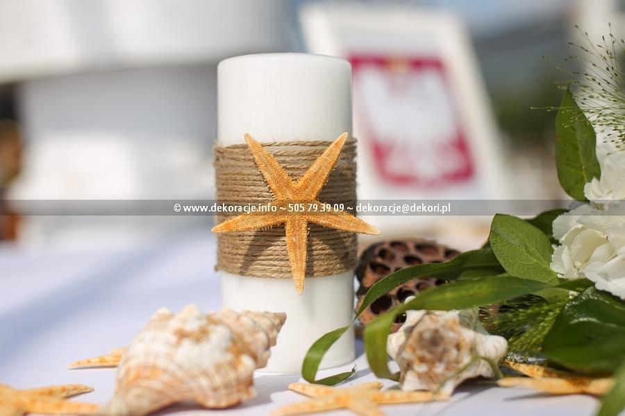 dekoracja ślubu w plenerze Gdynia