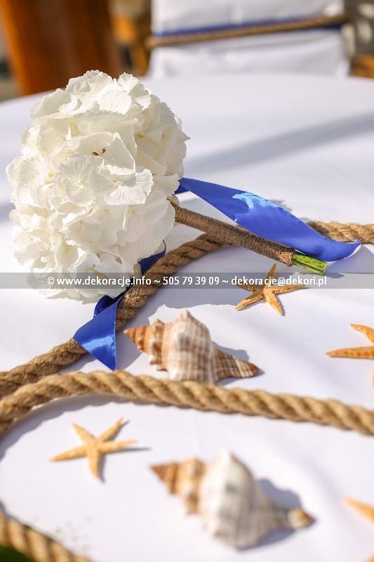 Dekoracja na ślub w stylu morskim Gdynia