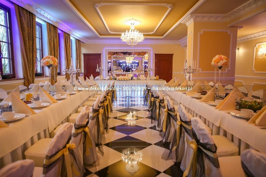 dekoracja ślubna sali Rodowo Małe pałac
