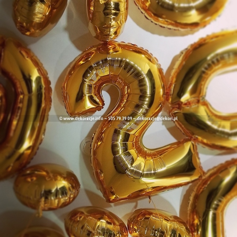 balony cyfry Gdynia